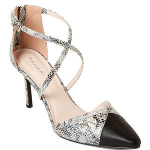 Tahari Pumps with snake print **NEW**